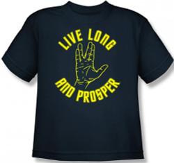 Image for Star Trek Live Long and Prosper Hand Youth T-Shirt