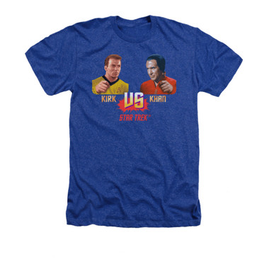 Image for Star Trek Heather T-Shirt - Kirk vs Khan