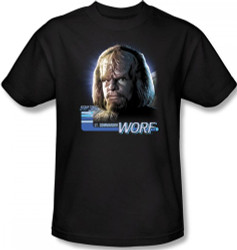 Image Closeup for Star Trek T-Shirt - Lt. Commander Worf