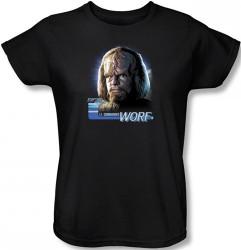 Image for Star Trek Womans T-Shirt - Lt. Commander Worf
