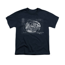 Image for Star Trek Youth T-Shirt - Bridge Blueprints