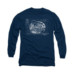 Image for Star Trek Long Sleeve Shirt - Bridge Blueprints