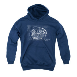 Image for Star Trek Youth Hoodie - Bridge Blueprints