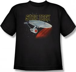 Image for Star Trek Youth T-Shirt - Cartoon Enterprise