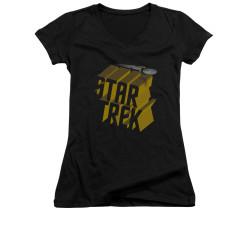 Image for Star Trek Girls V Neck - 3D Logo