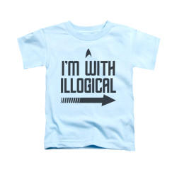 Image for Star Trek Toddler T-Shirt - I'm With Illogical