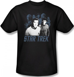 Image Closeup for Star Trek T-Shirt - Kirk, Spock, and Company