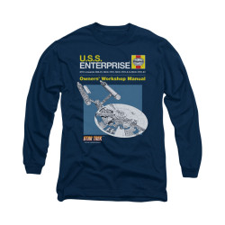 Image for Star Trek Long Sleeve Shirt - Haynes Enterprise Owners Manual