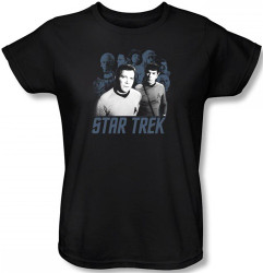 Image for Star Trek Womans T-Shirt - Kirk, Spock, and Company