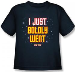 Image for Star Trek Kids T-Shirt - I Just Boldly Went