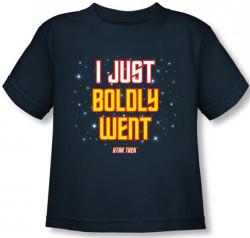 Image for Star Trek Toddler T-Shirt - I Just Boldly Went