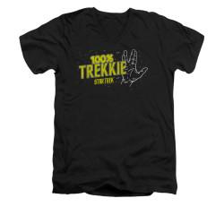 Image for Star Trek V Neck T-Shirt - 100% Trekkie