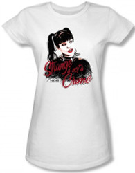 Image for NCIS Abby Strange is Not a Crime Girls Shirt