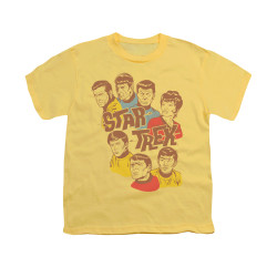 Image for Star Trek Youth T-Shirt - Retro Illustrated Crew