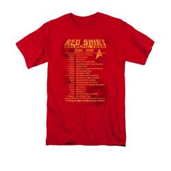 Star Trek T-Shirt - Red Shirt Galactic Tour