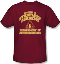 Image Closeup for Star Trek T-Shirt - Starfleet Academy Xenolinguistics