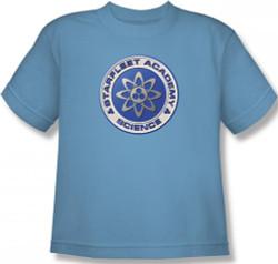 Image for Star Trek Youth T-Shirt - Starfleet Academy Science