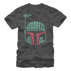 Image for Star Wars Verbiage Boba Fett Heather T-Shirt