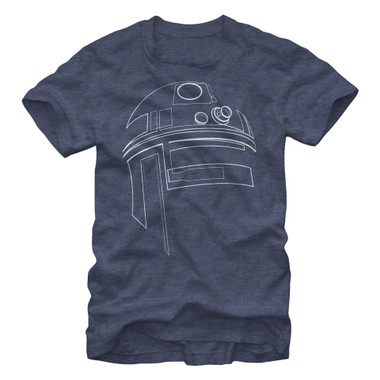 Image for Star Wars Simple R2D2 Heather T-Shirt