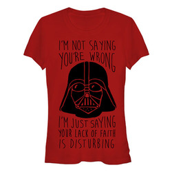 Image for Star Wars Juniors T-Shirt - Your Lack of Faith is Disturbing
