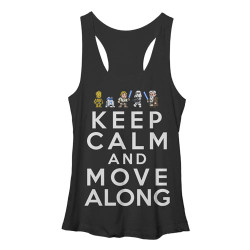 Image for Star Wars Womens Tank Top - Keep Calm and Move Along