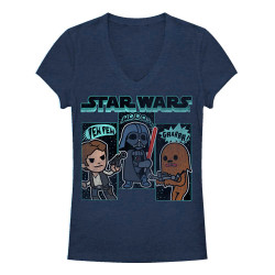 Image for Star Wars Girls Heather V Neck - Sound Effects