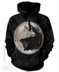 Image for The Mountain Hoodie - Yin Yang Wolves