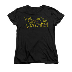 Image for The Watchmen Womans T-Shirt - Who Watches?