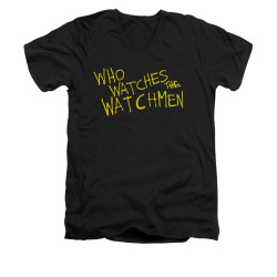Image for The Watchmen V Neck T-Shirt - Who Watches?