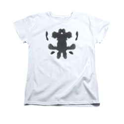 Image for The Watchmen Womans T-Shirt - Rorshcach Face