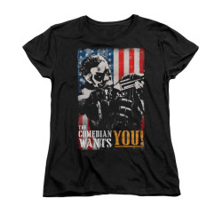 Image for The Watchmen Womans T-Shirt - The Comedian Wants You