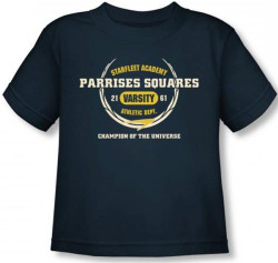 Image for Star Trek Toddler T-Shirt - Starfleet Academy Parrises Squares
