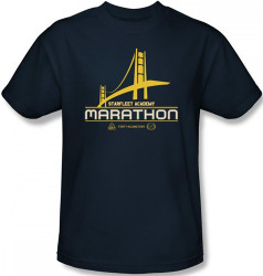 Image Closeup for Star Trek T-Shirt - Starfleet Academy Marathon Logo
