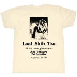 Image for Ace Ventura Pet Detective T-Shirt - Shih Tzu