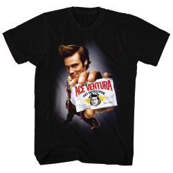 Image for Ace Ventura Pet Detective T-Shirt - Ace Card Up