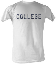 Image Closeup for Animal House T-Shirt - Distressed College White