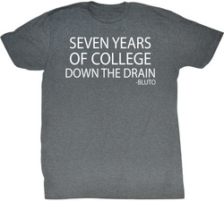 Image Closeup for Animal House T-Shirt - Seven Years of College Down the Drain