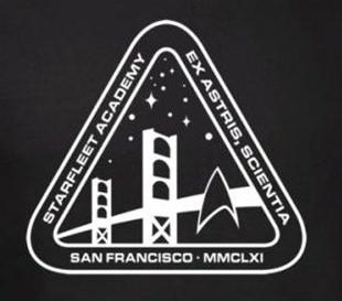 star trek tshirt starfleet academy white academy logo