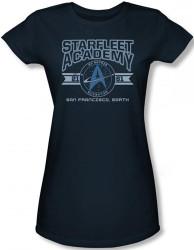 Image for Star Trek Girls T-Shirt - Starfleet Academy San Francisco, Earth
