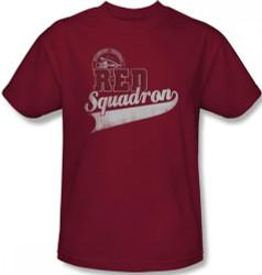 Image Closeup for Star Trek T-Shirt - Starfleet Red Squadron Support