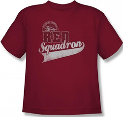 Image for Star Trek Youth T-Shirt - Starfleet Red Squadron Support