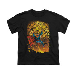 Image for Superman Youth T-Shirt - Daily Planet Save