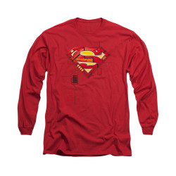 Image for Superman Long Sleeve Shirt - Super Mech Shield