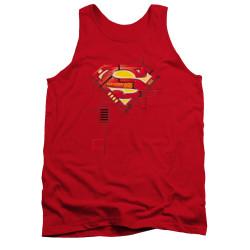 Image for Superman Tank Top - Super Mech Shield