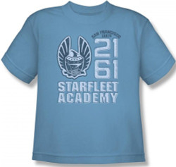 Image for Star Trek Youth T-Shirt - Starfleet Academy 2161 CBS869-YT
