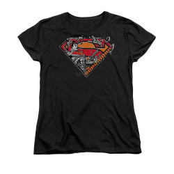 Image for Superman Womans T-Shirt - Breaking Chain Logo