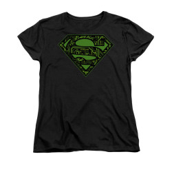 Image for Superman Womans T-Shirt - Circuits Shield