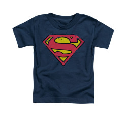 Image for Superman Toddler T-Shirt - Distressed Shield