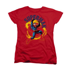 Image for Superman Womans T-Shirt - A Name To Uphold