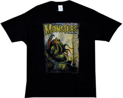 Image Closeup for Famous Monsters of Film Cthulhu T-Shirt